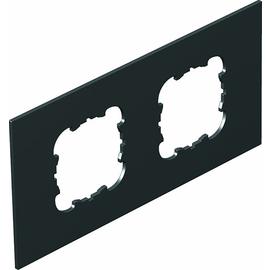 7408464 OBO T8NL P3 9011 Abdeckplatte 2xEKR für T4L/T8NL Polyamid graphitschwa Produktbild