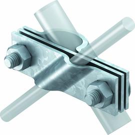 5001641 OBO 2760 20 FT Anschlussschelle für Rund-und Flachleiter 20mm Stahl tauc Produktbild