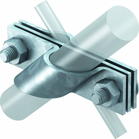 5001668 OBO 2760 25 FT Anschlussschelle für Rund-und Flachleiter 25mm Stahl tauc Produktbild