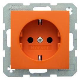 41438914 Berker BERKER S.1/B.1/B.3/B.7 SSTD. mit Schraubklemmen, orange glänzen Produktbild