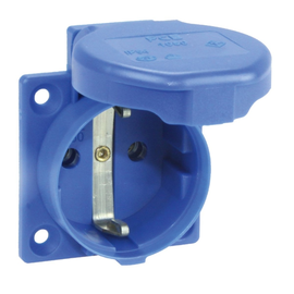 1050-0bw PC-E PNOVA+ blau, rückw. Ansch. IP54 mit Dichtrand (ohne Gummidichtung) Produktbild