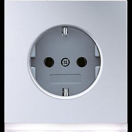 AL2520-OLEDW Jung SCHUKO-Steckd. m. LED- Orientierungslicht Produktbild