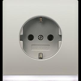 ES2520-OLEDW Jung SCHUKO-Steckd. m. LED- Orientierungslicht Produktbild