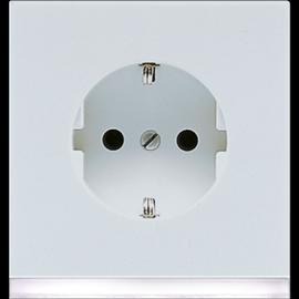 LS520-OLGLEDW Jung SCHUKO-Steckd. m. LED-Orientierungslicht Produktbild