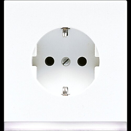 LS520-OWWLEDW Jung SCHUKO-Steckd. m. LED-Orientierungslicht Produktbild Front View L