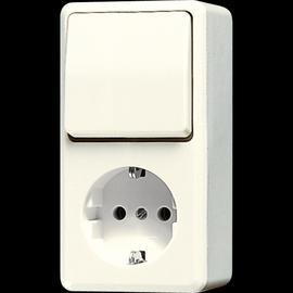 676A Jung SCHUKO-Steckdose m. Wechsel- Schalter Produktbild