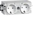 GS20009010 Hager Steckdose 2-fach Wago C-Profil reinweiß Produktbild