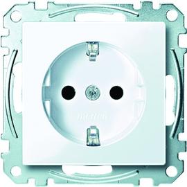 MEG2300-0325 MERTEN Schuko-Steckdose System M aktivweiß glänzend SHUTTER Produktbild