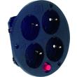 900.187 BACHMANN Steckdoseneins. 4-fach mit Thermoschutz Produktbild