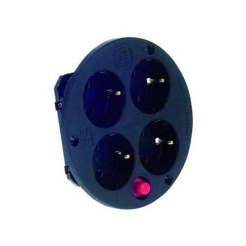 900.187 BACHMANN Steckdoseneins. 4-fach mit Thermoschutz Produktbild Front View L