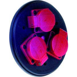910.105 BACHMANN Steckdoseneinsatz 3fach m. Deckel u. Thermoschutz Produktbild