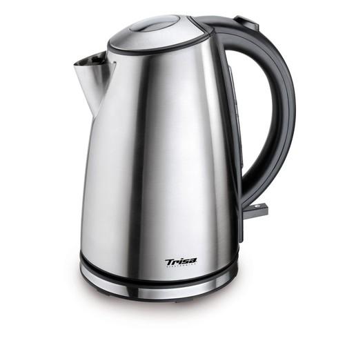 6423.75 Trisa Wasserkocher Quick Boil 1,7L  2200W Edelstahl Wasserstandanzeige Produktbild Front View L