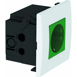 6119402 OBO SDE-RW D0GN1 Steckdosen- einheit Modul 45, 1fach 84x84x59mm Produktbild