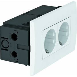 6119407 OBO SDE-RW D0RW2 Steckdosen- einheit Modul 45, 2fach 84x140x59mm Produktbild