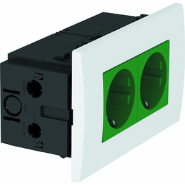 6119408 OBO SDE-RW D0GN2 Steckdosen- einheit Modul 45, 2fach 84x140x59mm Produktbild