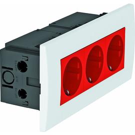 6119413 OBO SDE-RW D0RT3 Steckdosen- einheit Modul 45, 3fach 84x185x59mm Produktbild