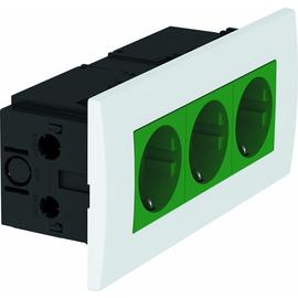 6119415 OBO SDE-RW D0GN3 Steckdosen- einheit Modul 45, 3fach 84x185x59mm Produktbild