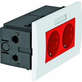 6119429 OBO SDE-RW D0RT2B Steckdosen- einheit Modul 45, 2fach 84x140x59mm Produktbild