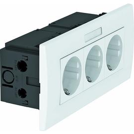 6119433 OBO SDE-RW D0RW3B Steckdosen- einheit Modul 45, 3fach 84x185x59mm Produktbild