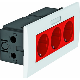 6119435 OBO SDE-RW D0RT3B Steckdosen- einheit Modul 45, 3fach 84x185x59mm Produktbild