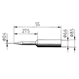0832CDLF/SB Ersa ERSADUR-Lötspitze 2,2mm meisselförmig Produktbild