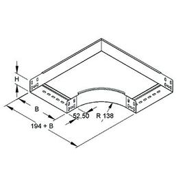 226009 NIEDAX RES 60.100 Bogen 90° 60x102mm mit ungelochten Seitenholmen Produktbild
