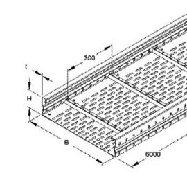 310807 NIEDAX WRL 105.300 Weitspannkabelrinne 105x300x6000mm t=1,5 Produktbild