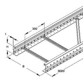 300600 NIEDAX WSL 105.200 Weitspannkabel Leiter 105x200x6000mm t=1,5mm gelocht Produktbild