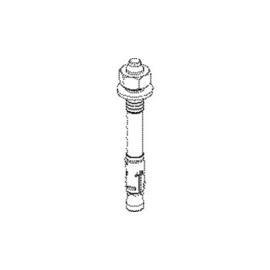 842865 NIEDAX DAZ 12x10 Durchsteckanker Gewinde M12 inkl. Mutter und Scheibe Produktbild