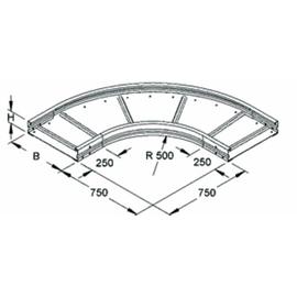 949298 NIEDAX WRBR 105.300 Bogen 90° 105x300mm rund gesickt ungelocht Produktbild