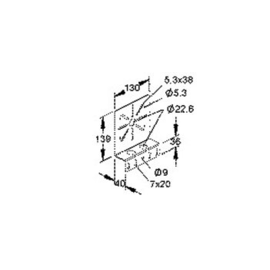 206148 NIEDAX RMP 130 Montageplatte Produktbild