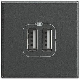 HS4285C2 BTICINO USB-LADEMODUL 2-FACH ANTHR. Produktbild