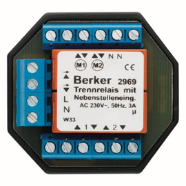 2969 BERKER Trennrelais-Einsatz AP/UP mit Nebenstellenabgänge Produktbild