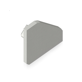 80-YT004 Bilton Endkappe für Eckprofil YT04 Alu Produktbild