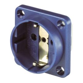 11531 MENNEKES Schuko-Anbausteckdose blau 16A 2p+E 230V IP20 Schraubklemme Produktbild