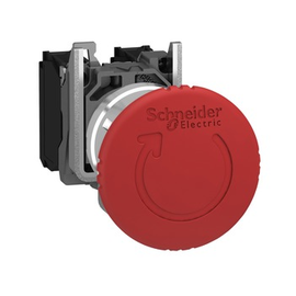 XB4BS8442 Schneider E. Not-Aus-Taster Komplettgerät mit Hilfskontakt 1Ö Produktbild