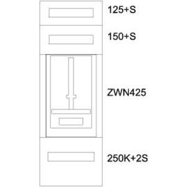 137394 Eaton BP-U-3S-KN-400/10-1Z Unterputz-Zählerverteiler K Produktbild