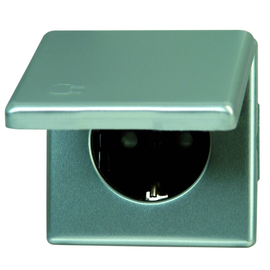 115620083 Steckdose mit Deckel Vision Stahl Produktbild
