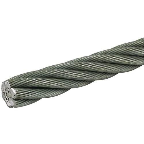 801050 DEHN Seil 10mm 42mm² St/galZn (114x0,65mm) R 100m Produktbild Front View L