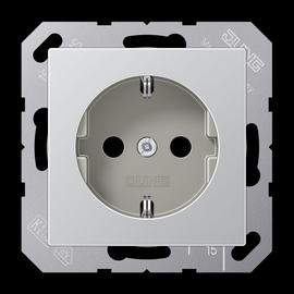 A1520 AL JUNG Schuko-Steckdose Aluminium Produktbild