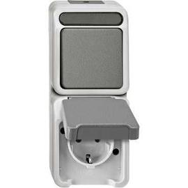 MEG3495-8029 Merten Schuko Wechsel- schalter Kombi FR AP IP44 Aquastar Produktbild