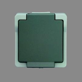 P9320 Schurrer Schukosteckdose 1-fach grau Produktbild