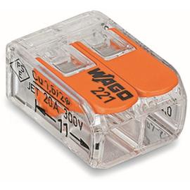 221-412 WAGO 2LeiterCOMPACT Verbindungs- klemme mit Betätigungshebeln 0,14 - 4mm² Produktbild