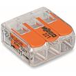 221-413 WAGO 3LeiterCOMPACT-Verbindungs- klemme mit Betätigungshebeln 0,14 - 4mm² Produktbild