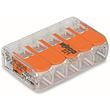 221-415 WAGO 5LeiterCOMPACT-Verbindungs- klemme mit Betätigungshebeln 0,2 - 4mm² Produktbild