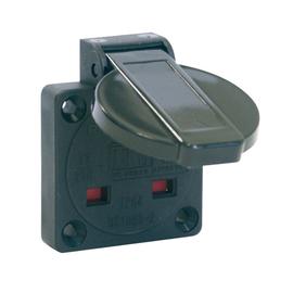 1020-5s PC-E Schuko Dose BS schwarz 50*50 IP54 Produktbild