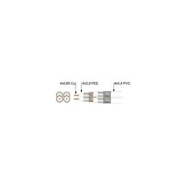 210009 P-SAT KK84 Quattro Koaxialkabel 3-f.gesch. 4,4x4 90dB weiss Ø13,5 (100m) Produktbild