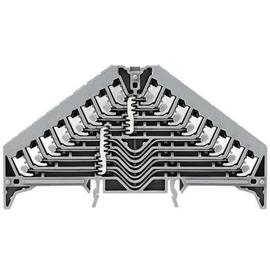 1173870000 Weidmüller PPV 8 GR 35X7.5 Etagenklemme 8 fach 1,5m² grau Produktbild