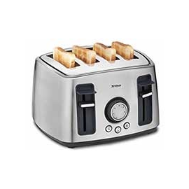 7345 7512 Trisa Family Toast 4-Schlitz- Toaster mit 6 Bräunungsstufen Edelstahl Produktbild