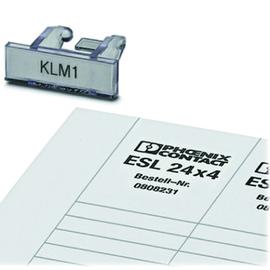 0809382 Phoenix Klemmleisten(VPE=100STK) Kennzeichnungsträger KLM1+ESL 24x4 Produktbild